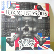 Load image into Gallery viewer, Toxic Reasons Dedication 1979-1988 12 inch Vinyl LP 1988 Funhouse Recods SPV Hardcore Punk plus tour poster - TulipStuff