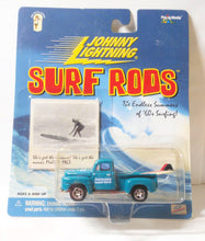 Load image into Gallery viewer, Johnny Lightning  Surf Rods Hermosa Beach Bums '50 Ford F-1 Pickup Truck Diecast Carwith Surfboards 2000