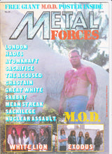 Load image into Gallery viewer, Metal Forces #25 Heavy Metal Magazine 1987 M.O.D. Exodus White Lion Nuclear Assault - TulipStuff