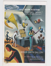 Load image into Gallery viewer, Mark Kostabi Art Exhibit At Roger Smith Gallery Advertising Postcard 2000