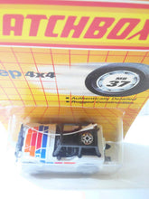 Load image into Gallery viewer, Matchbox 37 Jeep 4x4 with Roll Cage Diecast Metal 1990