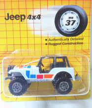 Load image into Gallery viewer, Matchbox 37 Jeep 4x4 with Roll Cage Diecast Metal 1990 - TulipStuff