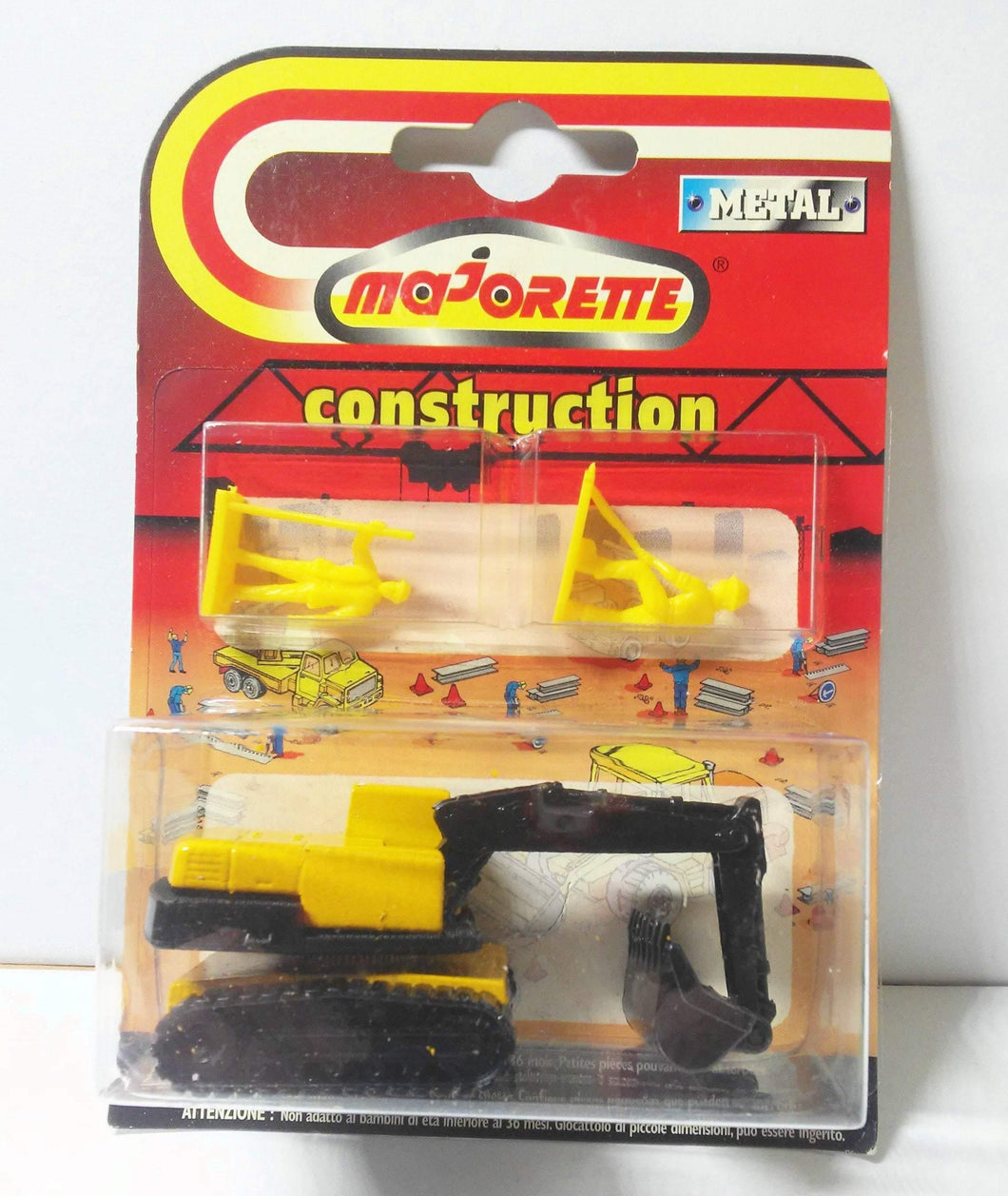 Majorette 242 Power Shovel Pelle Mechanique Vintage Diecast Construction Toy 1990's