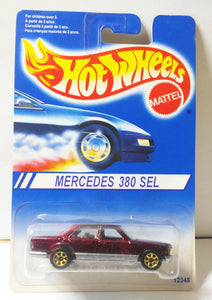Hot Wheels Mercedes 380SEL sp7gd 12346-0710  International Canada Only 1997 - TulipStuff