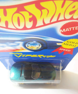 Hot Wheels Collector #210 Dodge Viper RT/10 Gold Medal Speed g5sp Die Cast Sports Car 1995