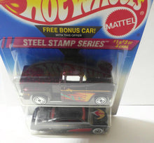 Load image into Gallery viewer, Hot Wheels Steel Stamp Series 2-Pack Steel Passion '56 Flashsider Diecast Cars 1995 - TulipStuff