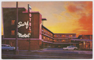 Surf Motel Lombard St  US Hwy 101 San Francisco California 1960's Postcard - TulipStuff