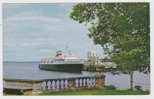 MV Bluenose Ferry Bar Harbor Maine Yarmouth Nova Scotia 1950's Postcard - TulipStuff
