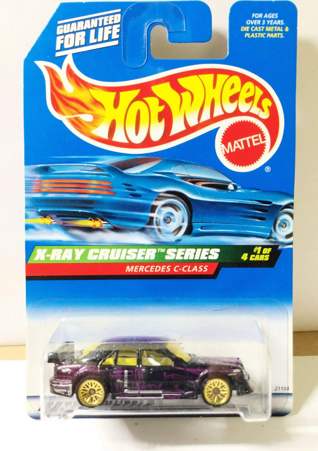 Hot Wheels X-Ray Cruiser Series Mercedes C-Class Collector #945 1998 - TulipStuff
