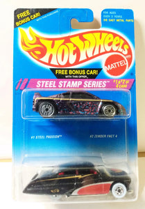 Hot Wheels Steel Stamp Series 2-Pack Steel Passion Zender Fact 4 Diecasts 1995 - TulipStuff