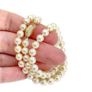 Mikimoto Blue Lagoon Japanese Cultured Akoya Pearl Strand - 14K Yellow Gold 18 Inch