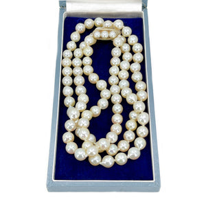 Matsumoto Baroque Japanese Cultured Akoya Pearl Vintage Opera Strand - 14K Yellow Gold 32 Inch