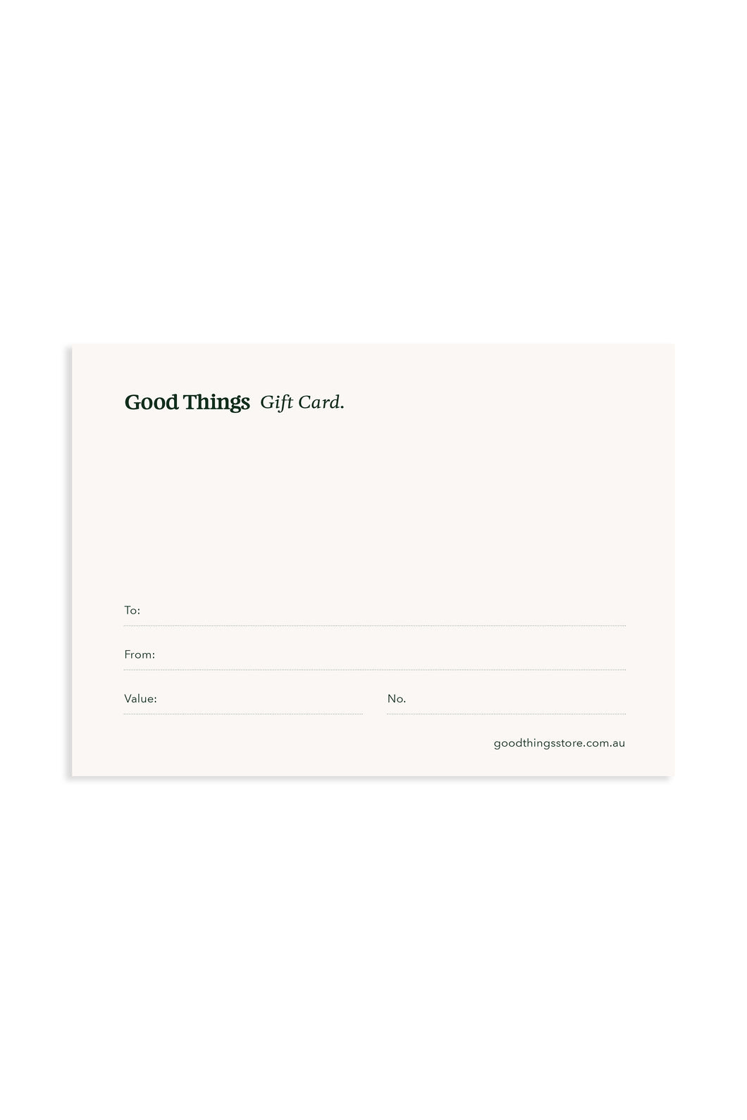 Good Things Gift Card