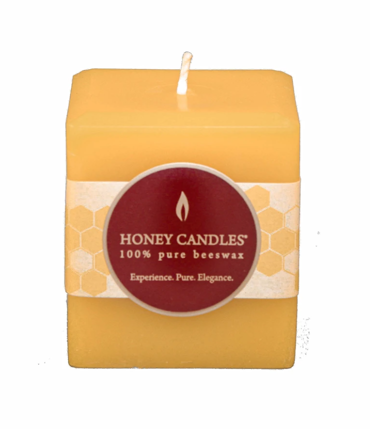 Beeswax Candle 3 x 3 Square