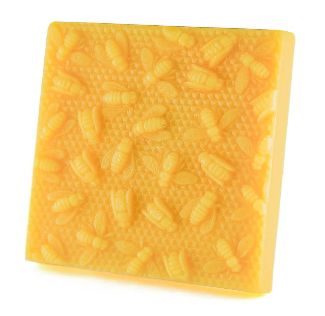 Beeswax Block 1 lb Bees On Honeycomb