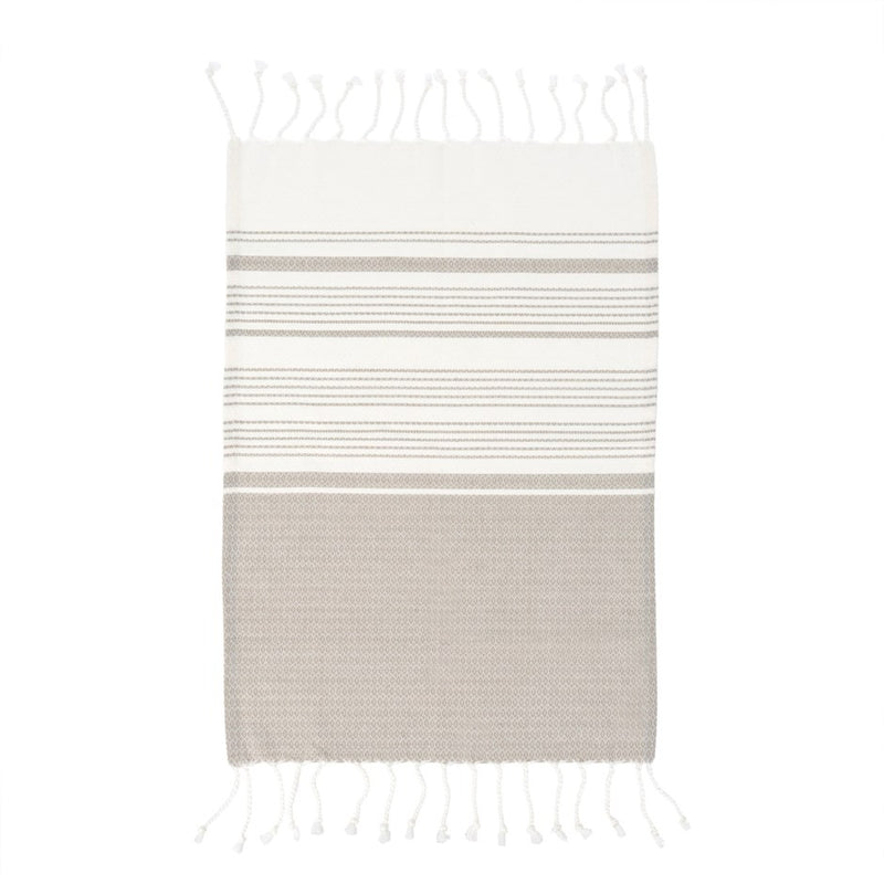 TURKISH HAND TOWELS, GREY - SET OF 4 - Kate & Co. Home