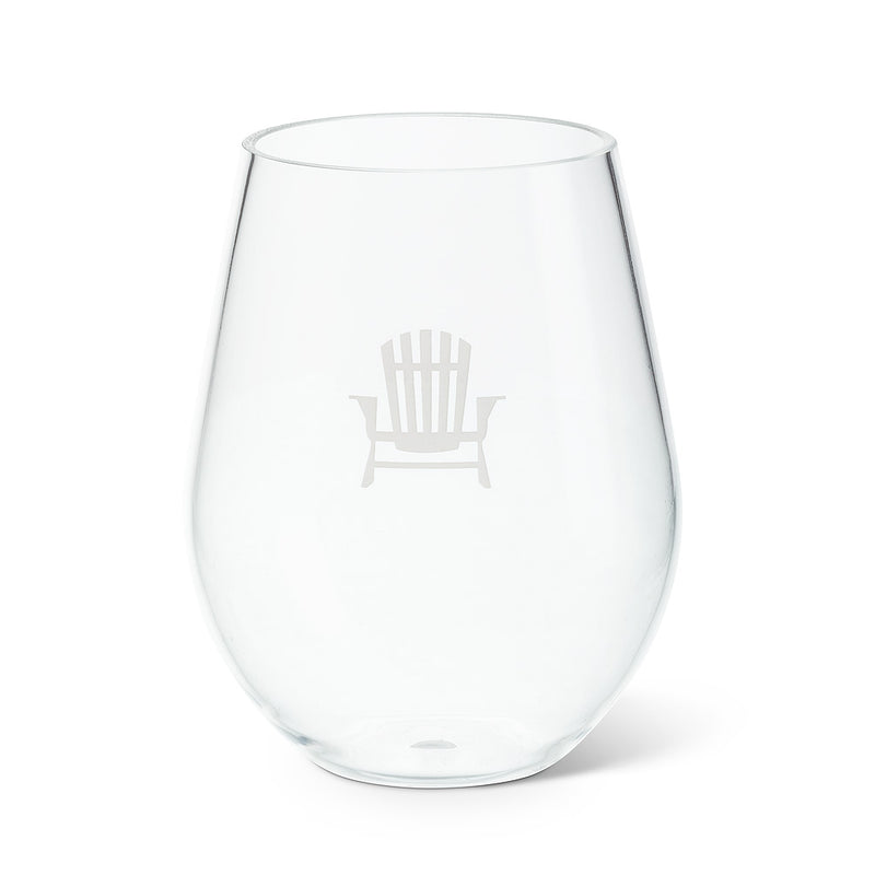 STEMLESS GOBLET WITH CHAIR ICON - SET OF 6 - Kate & Co. Home