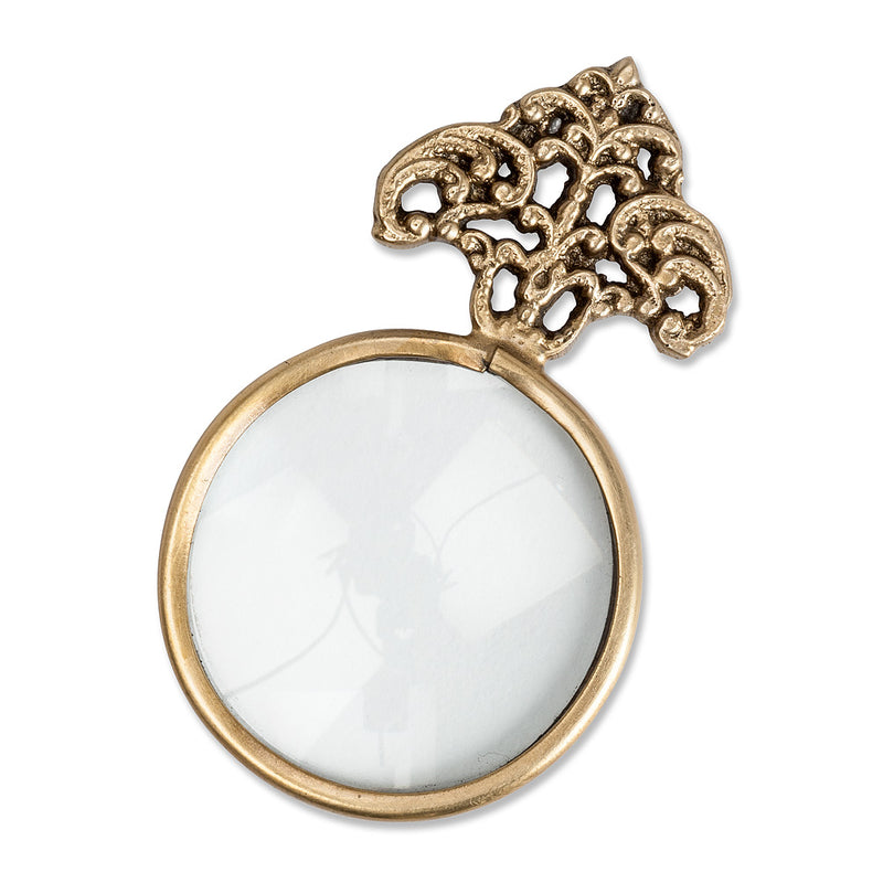 SMALL ORNATE MAGNIFYING GLASS - Kate & Co. Home