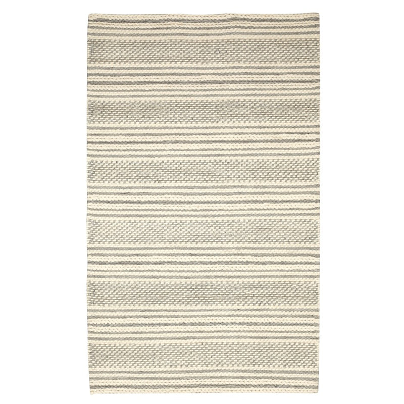 ASPEN HAND KNOTTED WOOL RUG IVORY GREY - Kate & Co. Home