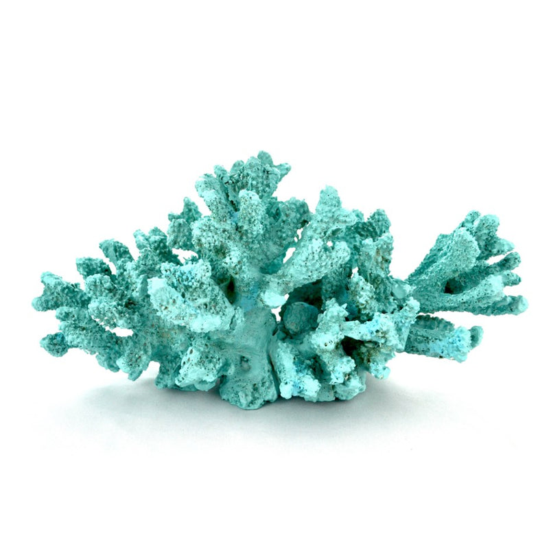 LARGE BLUE RESIN CORAL - Kate & Co. Home