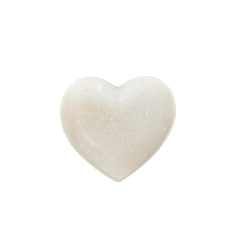 WHITE MARBLE HEART, SMALL - Kate & Co. Home