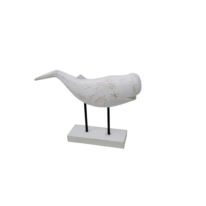WHALE ON STAND-WHITE - Kate & Co. Home