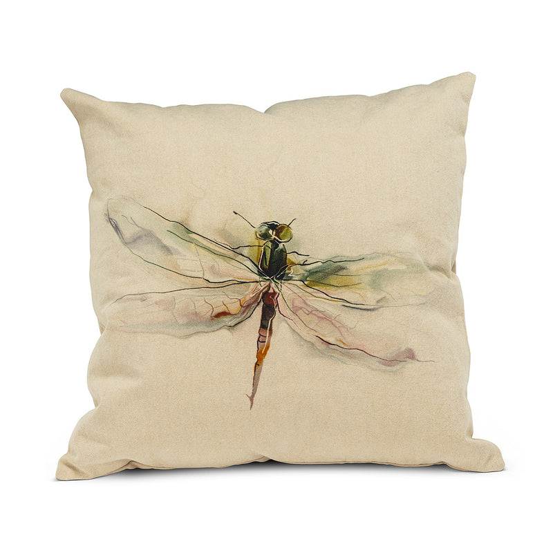 SQUARE DRAGONFLY PILLOW - Kate & Co. Home