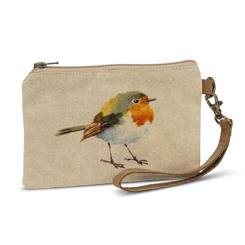BIRD ZIP POUCH WITH STRAP - Kate & Co. Home