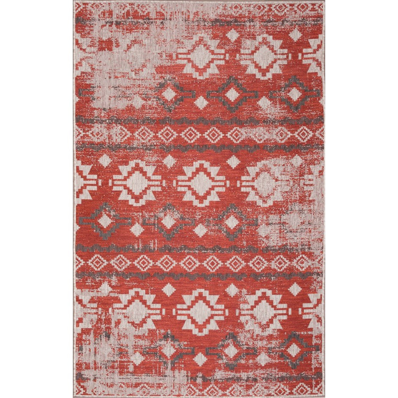 CARNIVAL INDOOR/OUTDOOR RUG RED - Kate & Co. Home