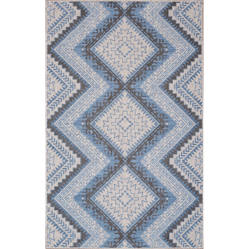 CARNIVAL INDOOR/OUTDOOR RUG GREY BLUE - Kate & Co. Home