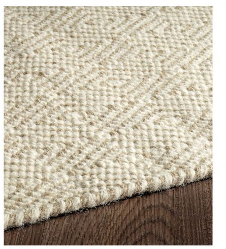 Chicago Flat Weave Reversible Wool Rug Ivory Beige Kate Co Home