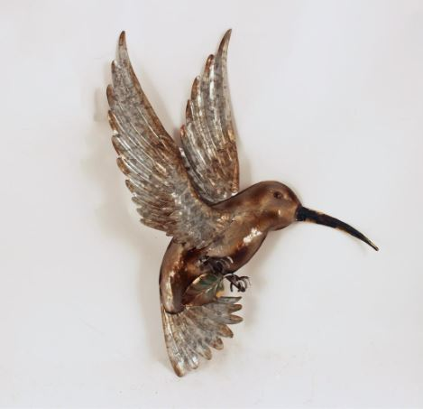 FH726 METAL HUMMINGBIRD WALL ART
