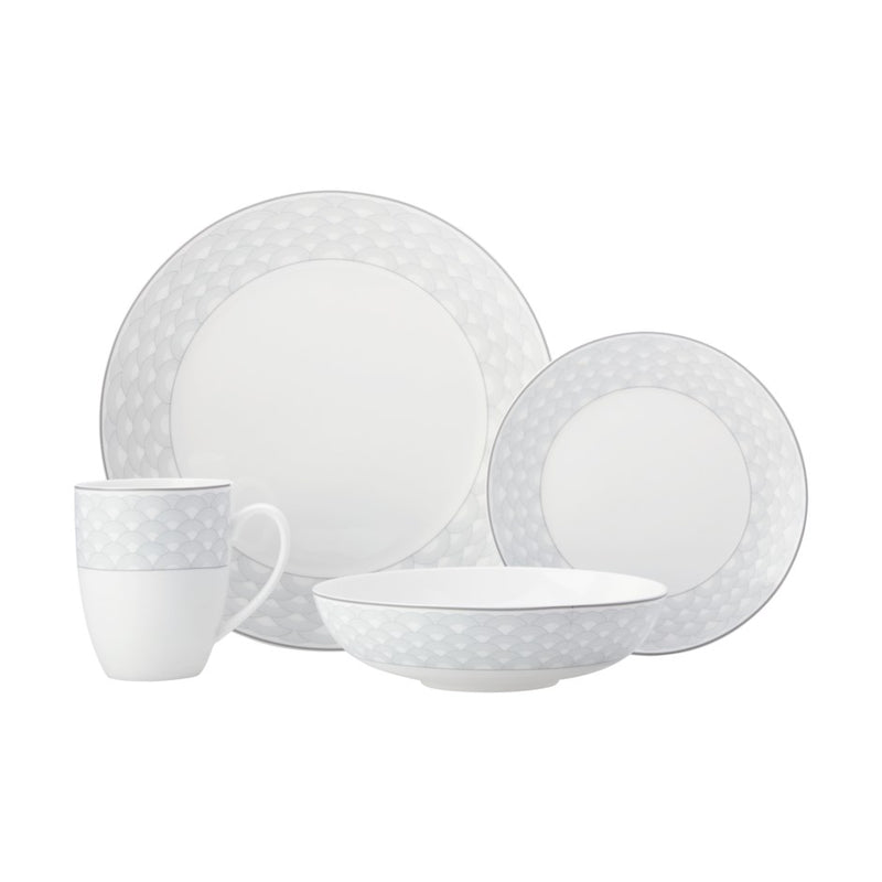 DINNER SET HARLEQUIN GREY 16PC - Kate & Co. Home