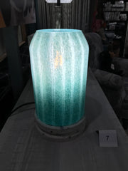 TURQUOISE GLASS TABLE LAMP