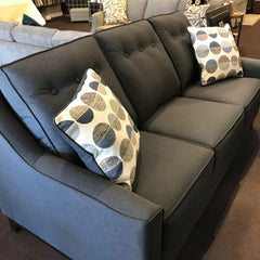 1403-10 SOFA IN VALENTINO INDIGO WITH TWO ACCENT CUSHIONS