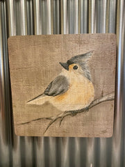WOODEN BOX BIRD PRINTS