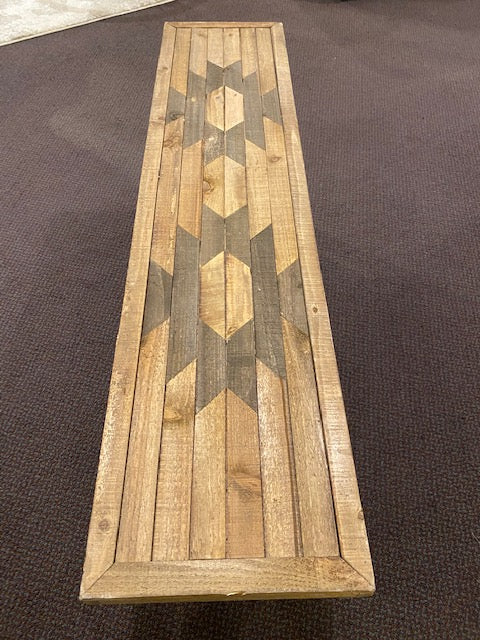 NAVAJO STYLE WOODEN BENCH