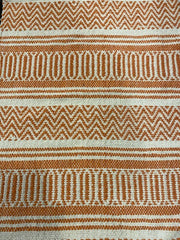 GEOMETRIC PATTERN COTTON RUG- ORANGE