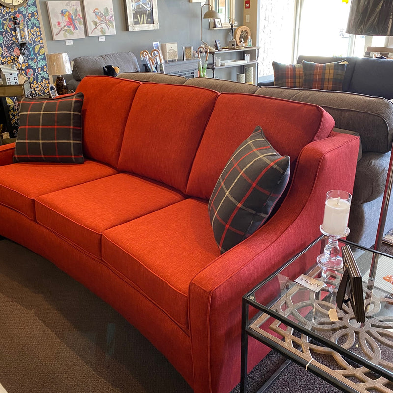 9670 CURVED EVERGLADE PAPRIKA SOFA