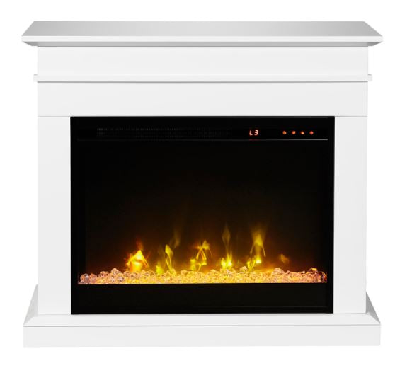 "JASMINE 23"" ELECTRIC FIREPLACE WITH CASTERS"