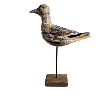 STANDING WOODEN SEAGULL - Kate & Co. Home