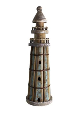 WOODEN LIGHTHOUSE TABLE DECOR - Kate & Co. Home