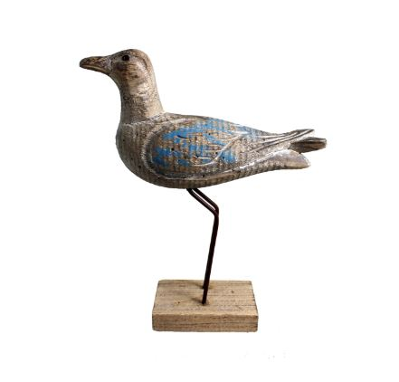 STANDING WOOD SEAGULL BENT LEGS - Kate & Co. Home