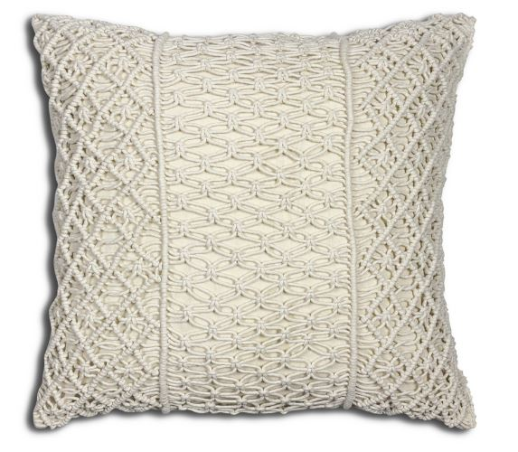 MACRAME CERES ACCENT CUSHION - Kate & Co. Home