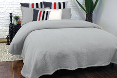 MALLOW SILVER COVERLET - Kate & Co. Home
