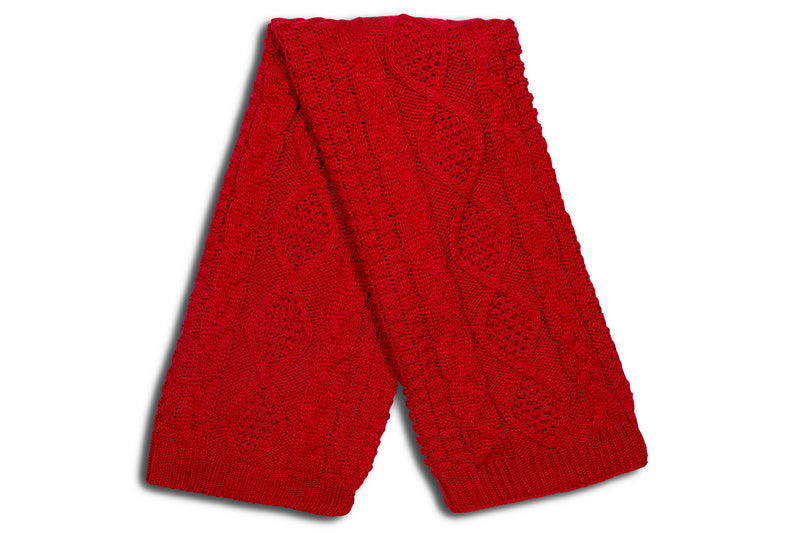 JESSMOND RED ACRYLIC KNIT THROW - Kate & Co. Home