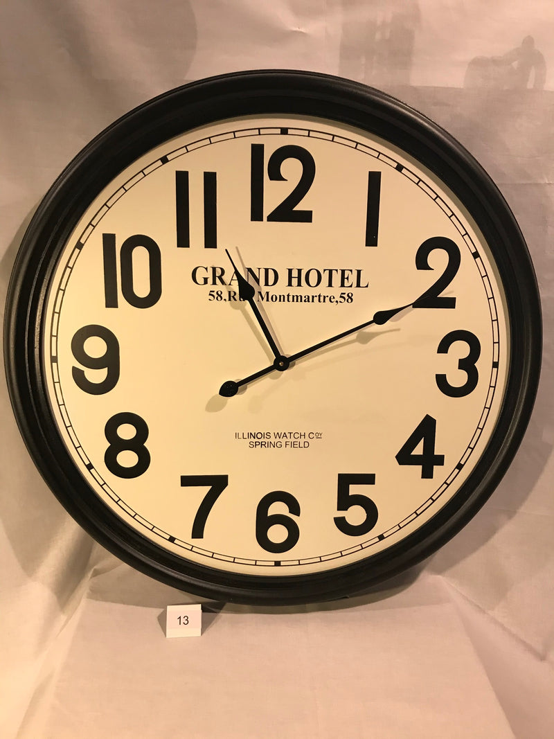 ILLINOIS WATCH CO. GRAND HOTEL WALL CLOCK