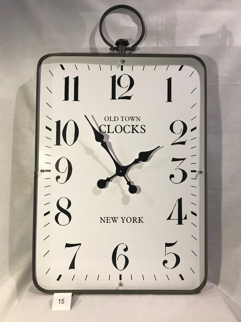 OLD TOWN CLOCKS - NEW YORK RECTANGULAR WALL CLOCK