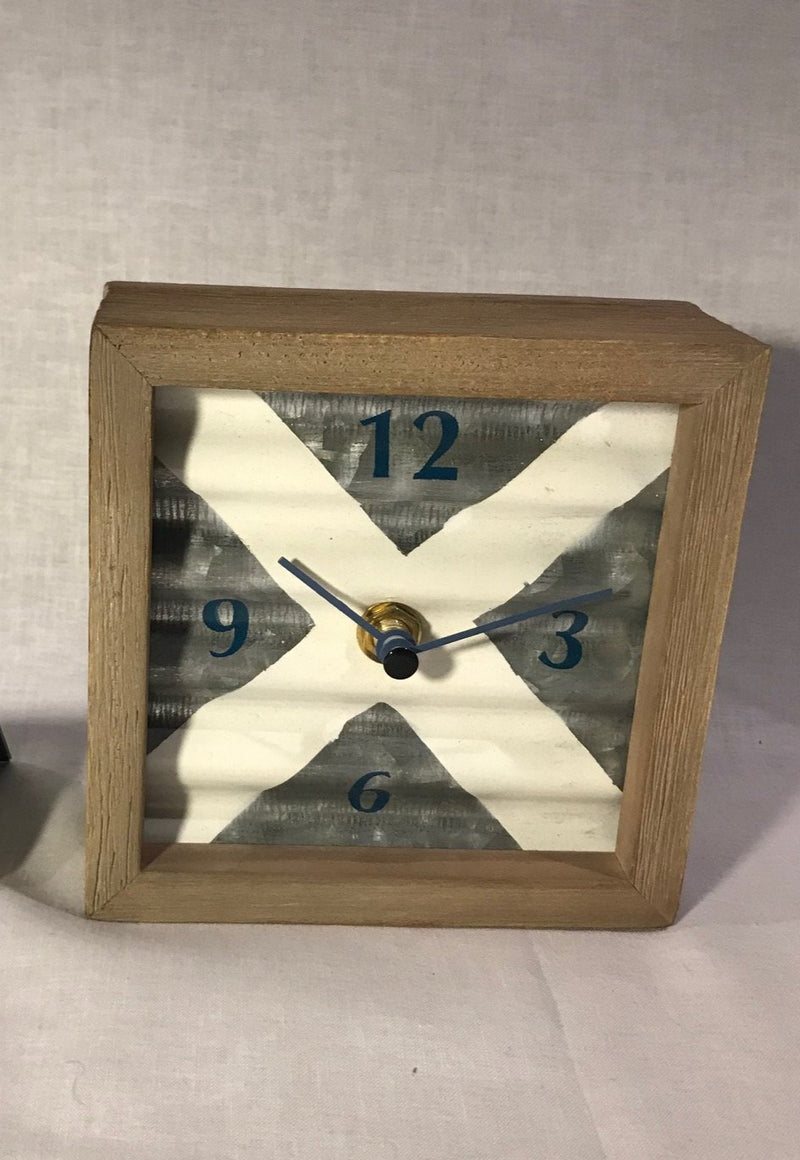 X MARKS THE SPOT DESK CLOCK