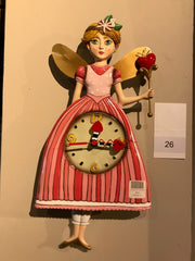 FAIRY PRINCESS PENDULUM WALL CLOCK